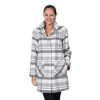 Women's Fleet Street Plaid Cocoon Wool-Blend Coat