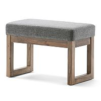 Simpli Home Milltown Small Upholstered Bench