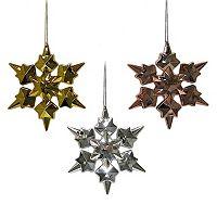 St. Nicholas Square® Electro Snowflake Christmas Ornament 3-piece Set