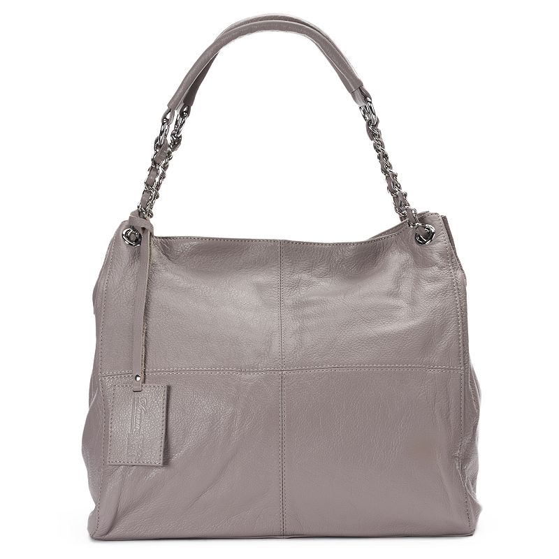 Donna Bella Slick Chain Lace Leather Tote