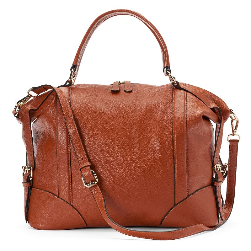 Donna Bella Vivian Leather Convertible Tote
