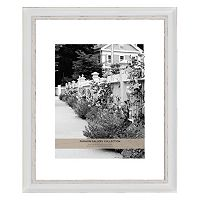 Fashion Gallery Collection 11'' x 14'' Distressed White Matted Frame