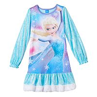 Disney's Frozen Elsa Girls 4-10 Velvety Nightgown