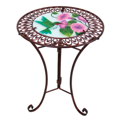 Exhart Hummingbird Scallop Outdoor Bistro Table