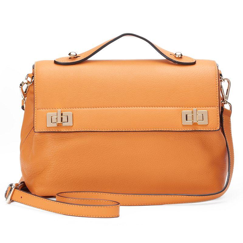 Donna Bella Audrey Leather Crossbody Bag