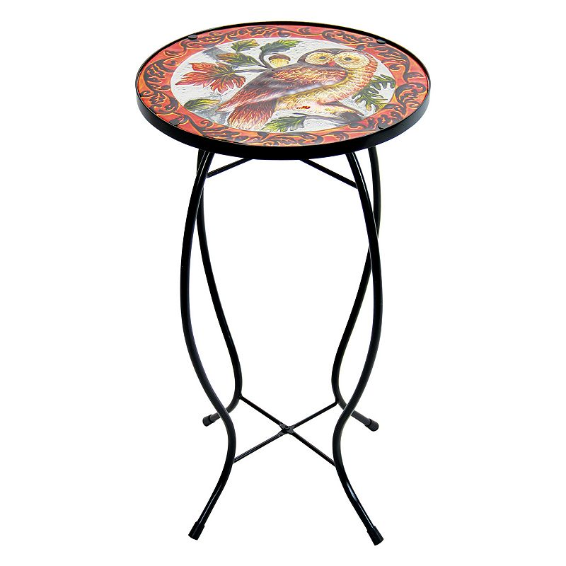Exhart Owl Glass Outdoor Bistro Table