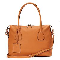 Donna Bella Colette Convertible Leather Satchel