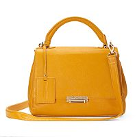 Donna Bella Jasmine Convertible Leather Satchel