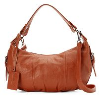 Donna Bella Alexis Leather Buckle Hobo