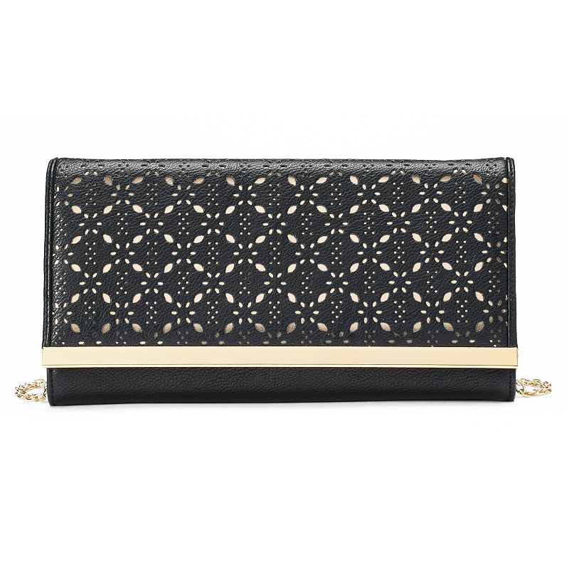 Gunne Sax by Jessica McClintock Addison Perforated Framed Clutch