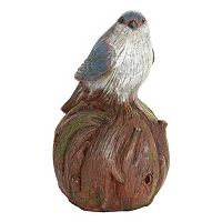 Exhart Solar Woodland Bird Outdoor Decor