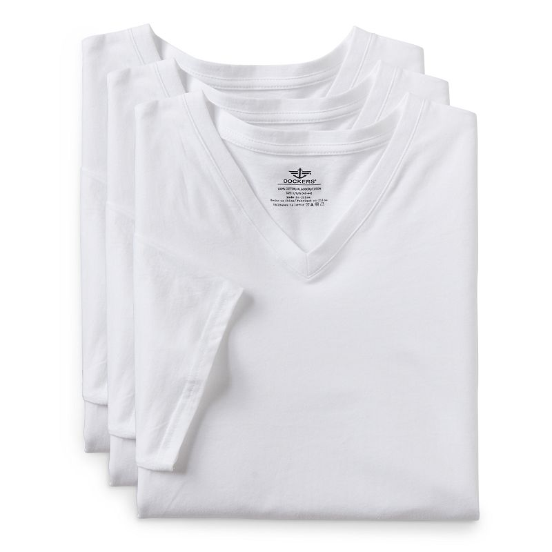 Men's Dockers 3-pack V-Neck Tees