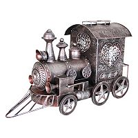 Exhart Metal Train Statue Outdoor Decor