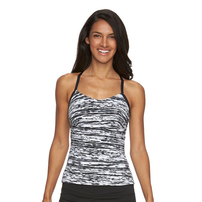 Women's Tek Gear® Printed Racerback Tankini Top