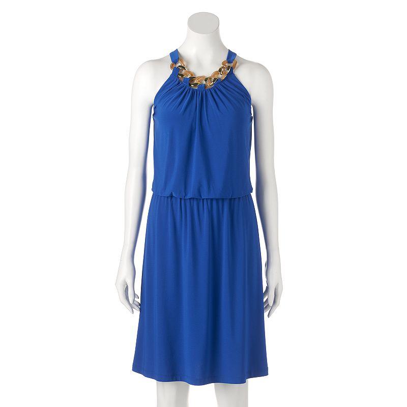 Women's MSK Chain Blouson Dress
