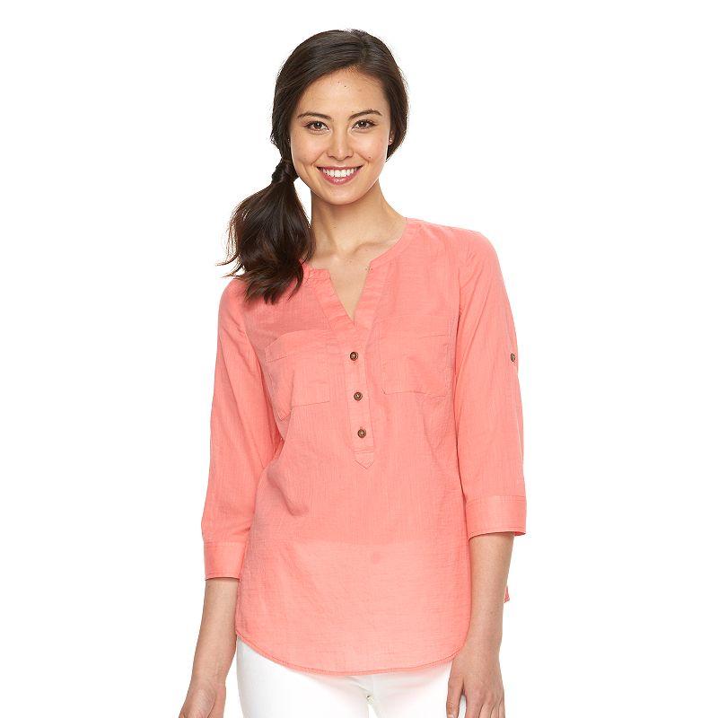 Women's Croft & Barrow® Henley Shirt