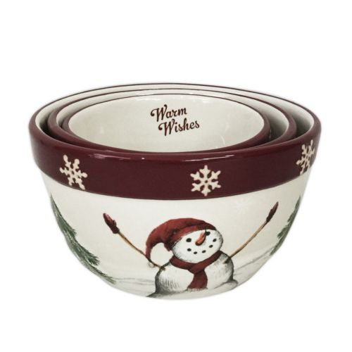 St. Nicholas Square® Yuletide 3-pc. Nesting Bowl Set