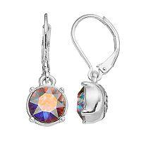 Dana Buchman Round Crystal Drop Earrings