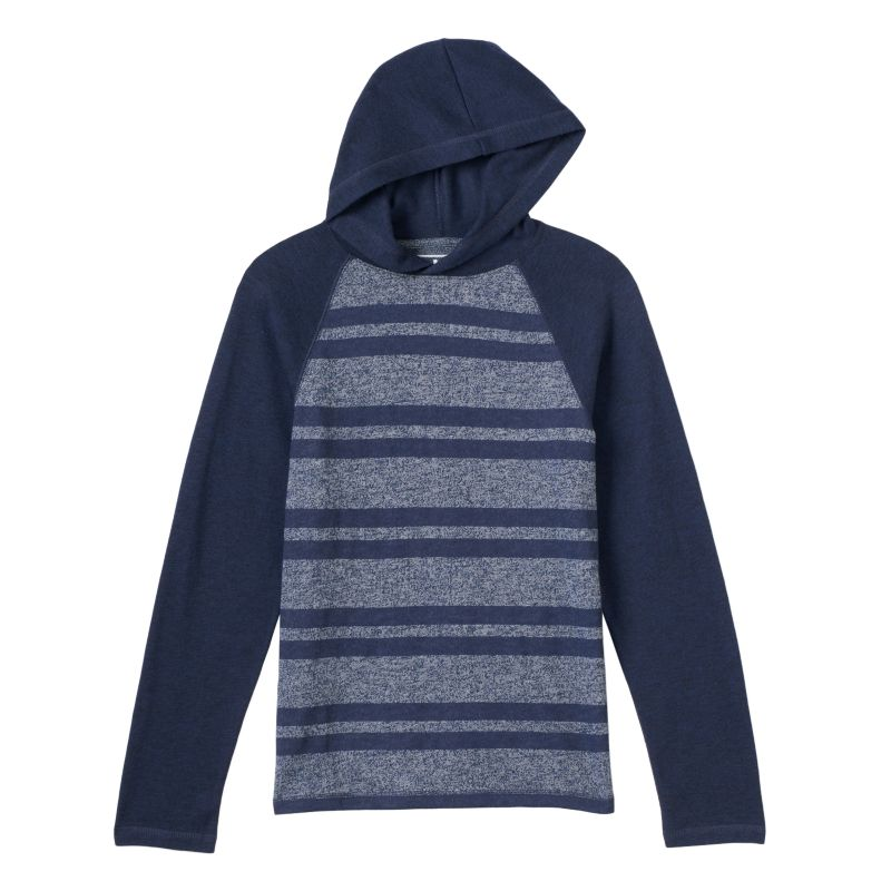 Boys 8-20 Urban Pipeline Striped Hooded Tee, Boy's, Size: Large, Blue (Navy)