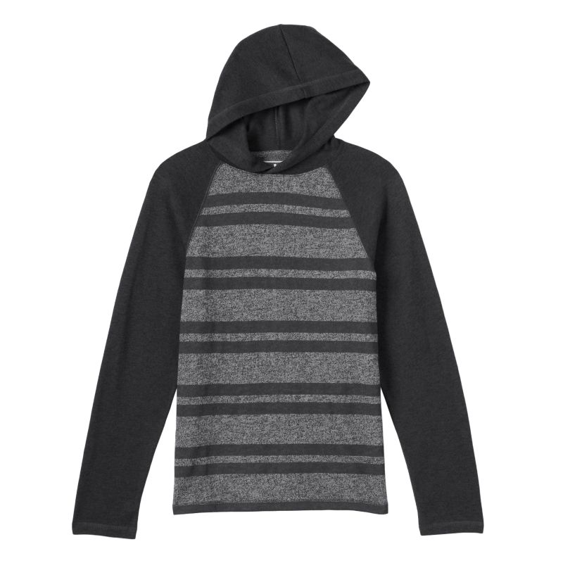 Boys 8-20 Urban Pipeline Striped Hooded Tee, Boy's, Size: Large, Dark Grey
