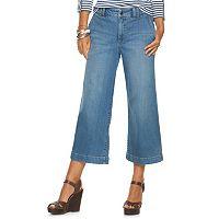 Petite Chaps Wide-Leg Crop Jeans