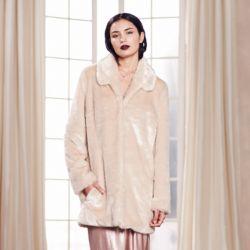 LC Lauren Conrad Runway Collection Faux-Fur Coat by