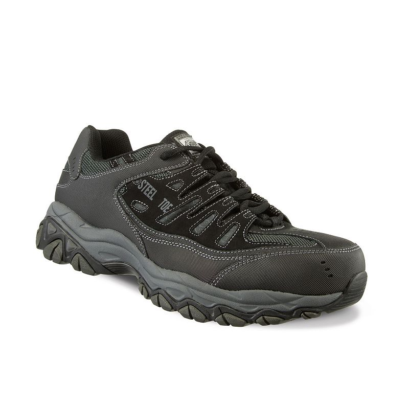 Skechers Work Relaxed Fit Crankton Men's Steel-Toe Shoes