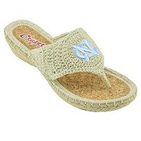 Women's Campus Cruzerz North Carolina Tar Heels Pregame Flip-Flops