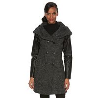 Women's Triple Star Hooded Wool Blend Jacket