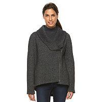 Women's Sebby Collection Asymmetrical Fleece Jacket
