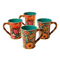 Tracy Porter Eden Ranch 4-pc. Coffee Mug Set