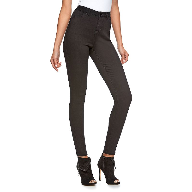 Women's Jennifer Lopez High-Rise Skinny Jeans, Size: 10 SHORT, Black