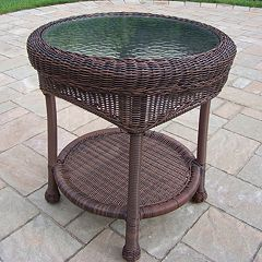 Resin Wicker Outdoor End Table by