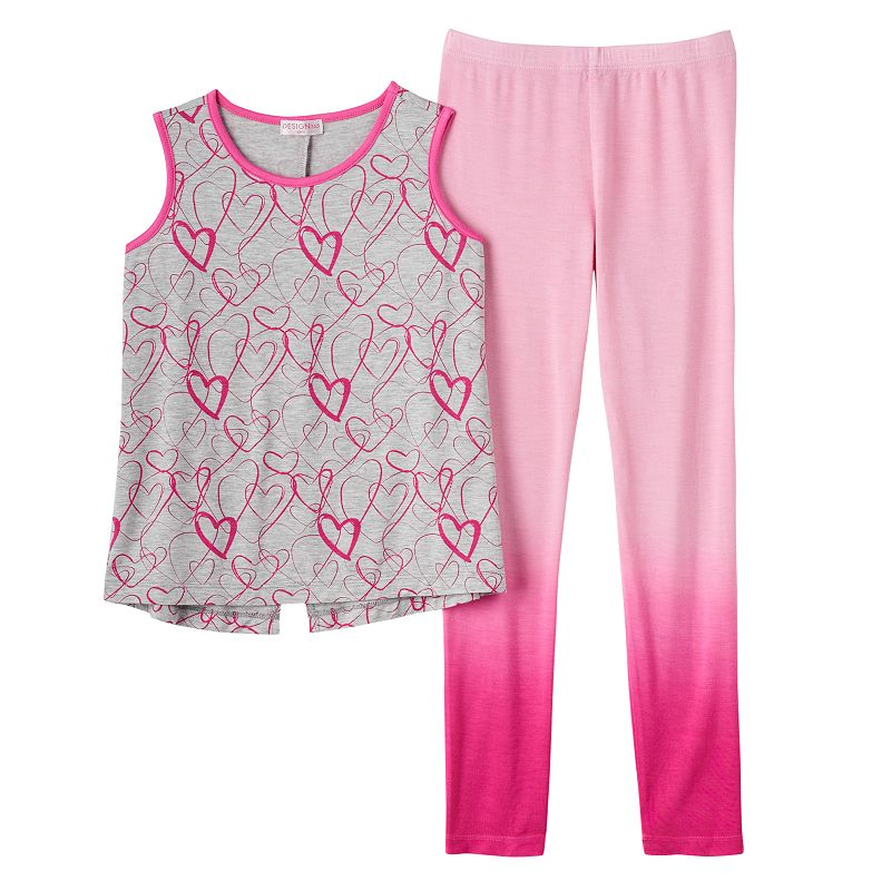 Girls 4-6x Design 365 Hearts Swing Tank & Ombre Leggings Set