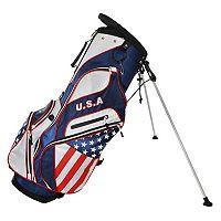 Adult Hot-Z USA Flag Golf Stand Bag