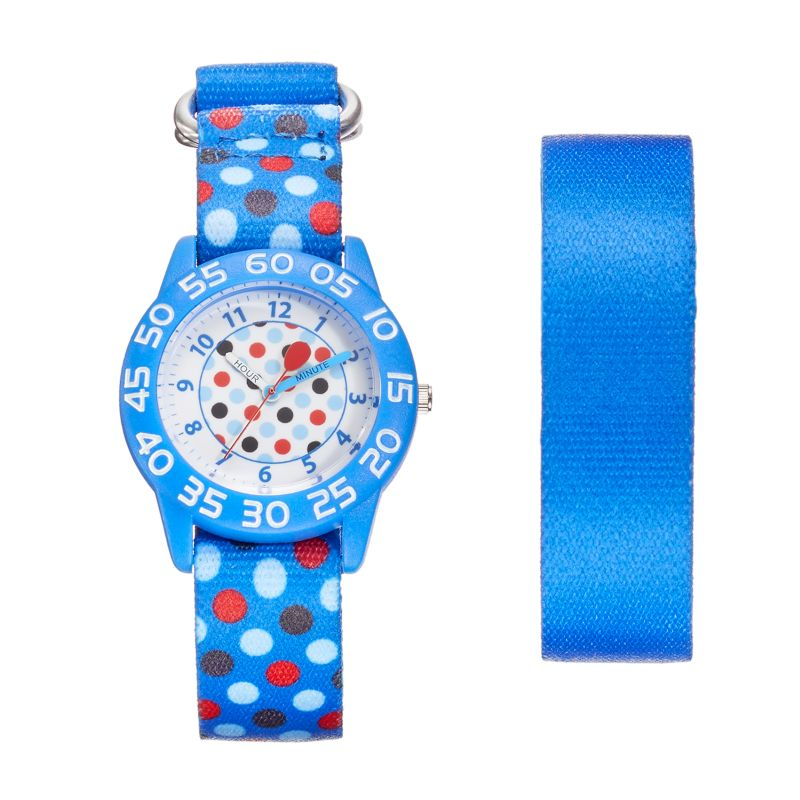 Red Balloon Kids' Time Teacher Polka Dot Watch & Interchangeable Band Set, Boy's, multicolor thumbnail