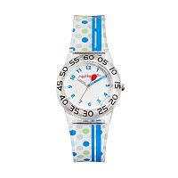 Red Balloon Kids' Time Teacher Polka Dot Watch