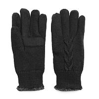 Women's Isotoner Cable-Knit Tech Gloves