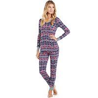 Women's Cuddl Duds Pajamas: Starry Night 2-Piece Pajama Set