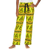 Juniors' Dr. Seuss The Grinch Fairisle Plush Pajama Pants