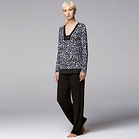 Women's Simply Vera Vera Wang Pajamas: Midnight Senses PJ Set