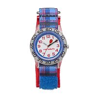 Red Balloon Kids' Time Teacher Plaid Watch