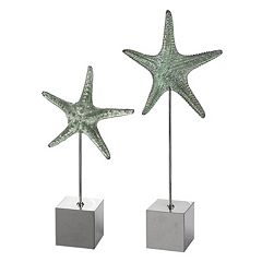 Starfish Sculpture Table Decor 2-piece Set by