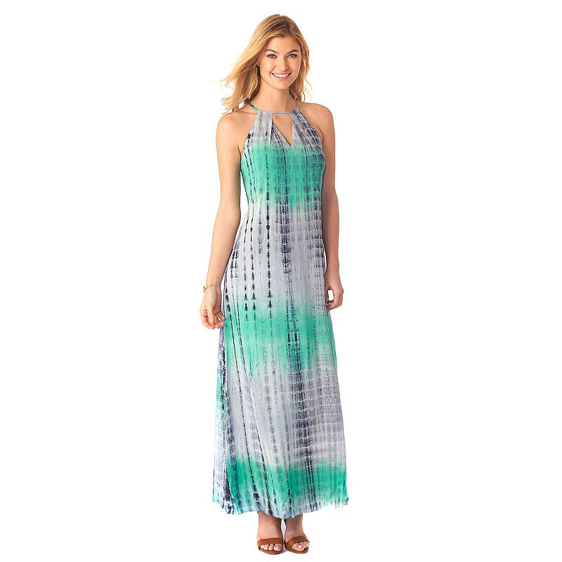 Women's Indication by ECI Abstract Tie-Dye Maxi Dress