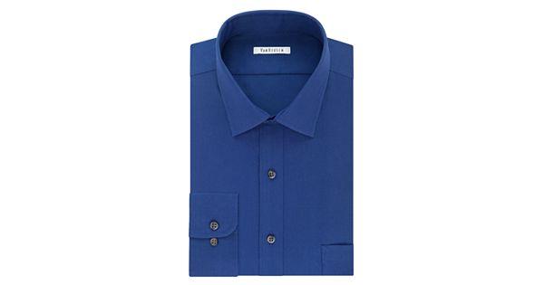 Big tall van heusen regular fit flex collar pincord for Van heusen men s regular fit pincord dress shirt