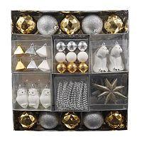 St. Nicholas Square Shine Shatterproof Ornament 50-piece Set