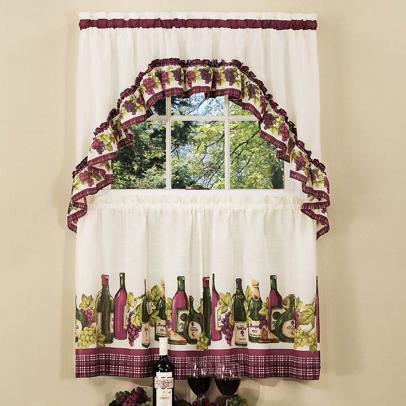 Chardonnay 3-pc. Swag Tier Kitchen Curtain Set