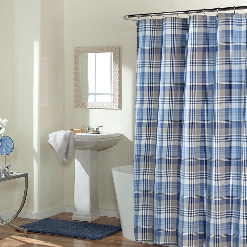 m.style Mad About Plaid Shower Curtain