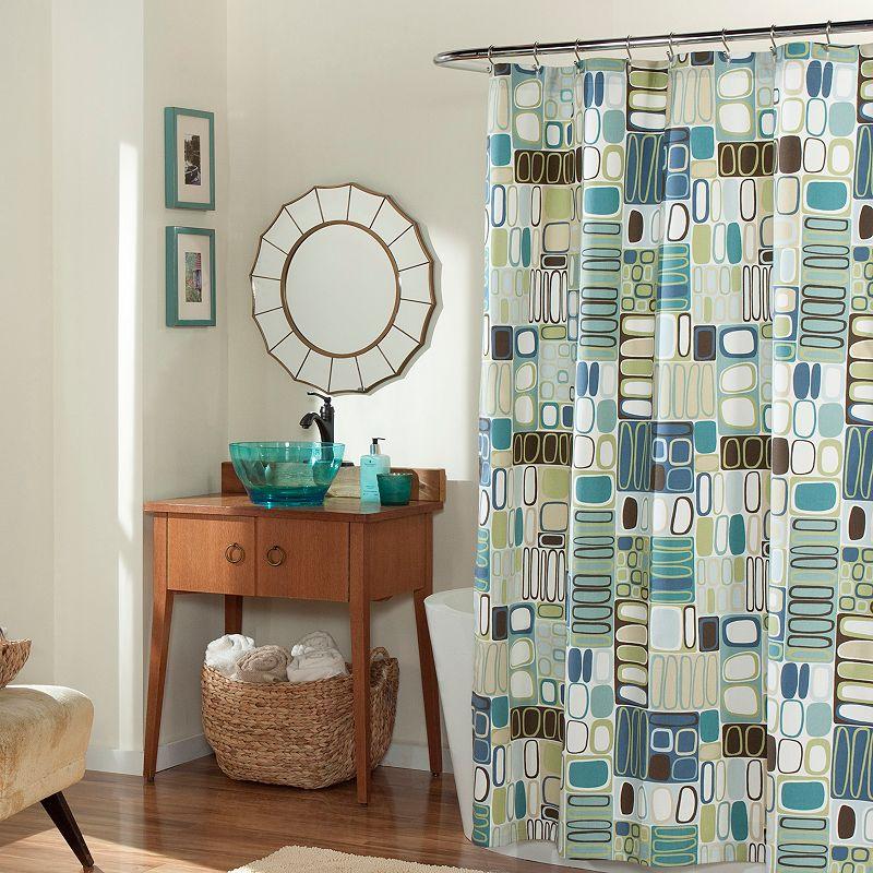 m.style Mod Blocks Shower Curtain