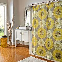 m.style Sunflower Shower Curtain